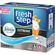 Fresh Step Scented Litter with The Power of Febreze, Clumping Cat Litter, 20 Pounds