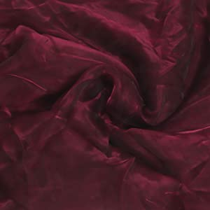 """VINEX Pack of 5 Yard 58"""" inch Wide Bridal Solid Sheer Organza Bridal Tull Rolls for Wedding Gown for Fashion Dress Crafting Home Wedding and Party Decoration Burgundy"""