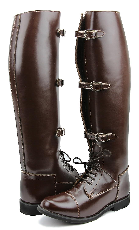HisparメンズMan StallionフィールドHorse Riding BootsスタイリッシュなファッションEquestrian ブラウン 11.5 Regular Calf