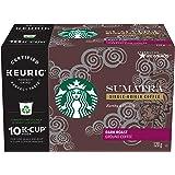 Starbucks Sumatra Dark Roast Coffee, Single Serve Keurig Certified Recyclable K-Cup Pods for Keurig Brewers, 60 Count