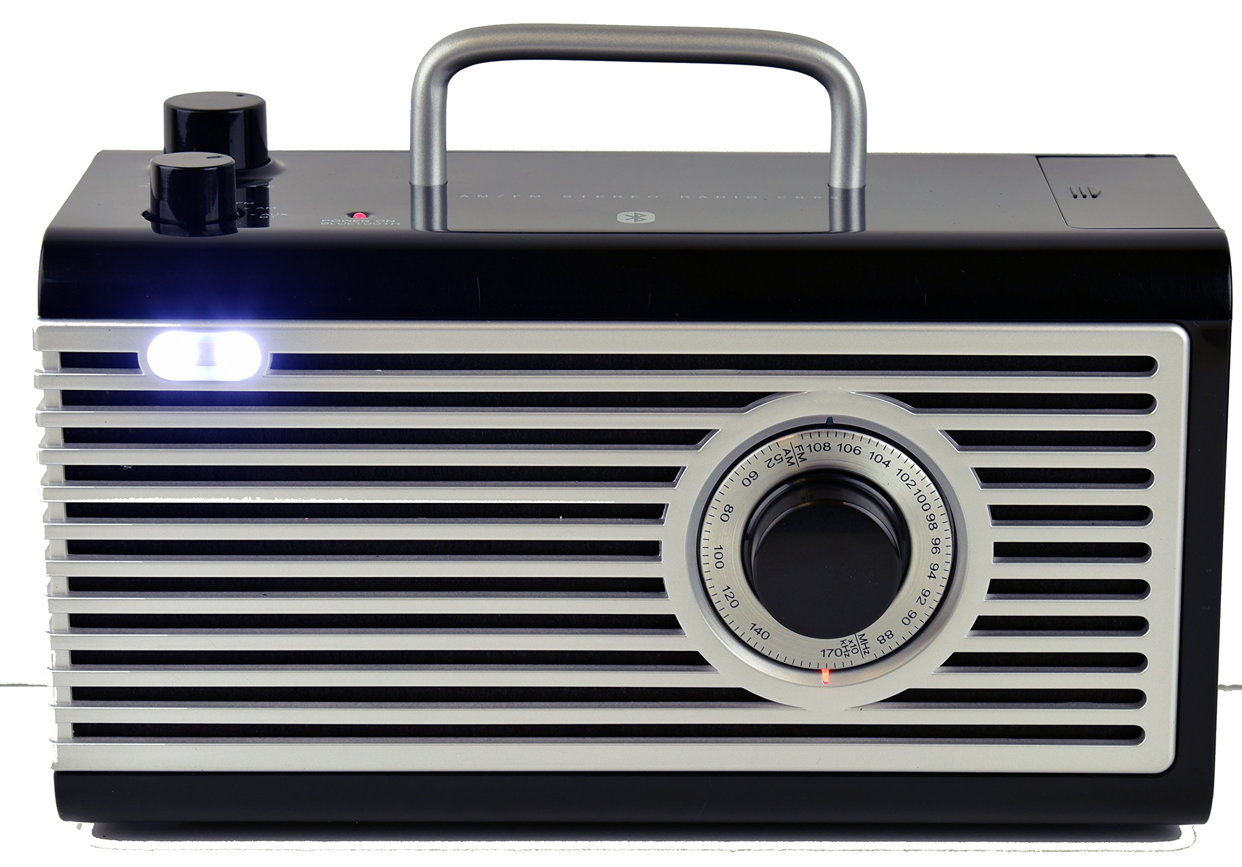 Kaito CBR3 Collectible AM/FM Radio with High Quality Bluetooth Speaker and LED Light +More (Black) by Kaito