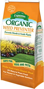 Espoma Weed Preventer Plus Lawn Food, Natural Lawn Food, Prevents Dandelions, Crabgrass, Other Weeds, 6 lb
