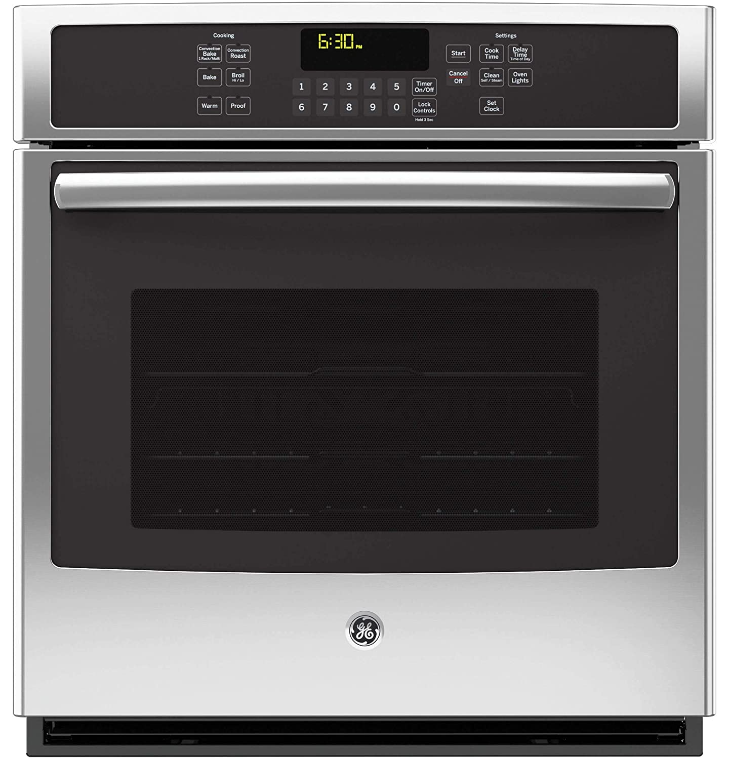 """GE JK5000SFSS 27"""" Stainless Steel Electric Single Wall Oven - Convection (Certified Refurbished)"""