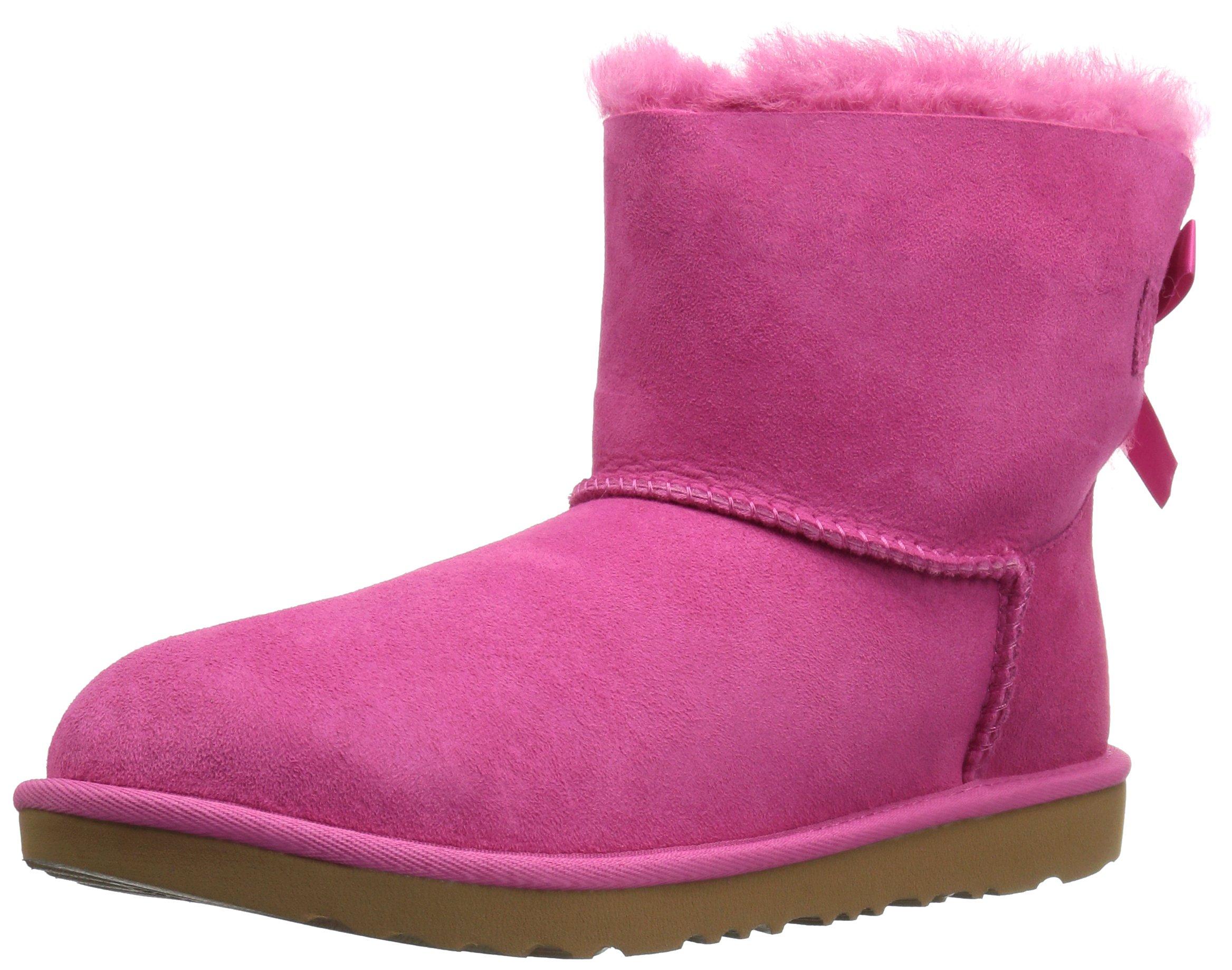 UGG Kids K Mini Bailey Bow II Pull-on Boot,Pink Azalea,6 M US Big Kid