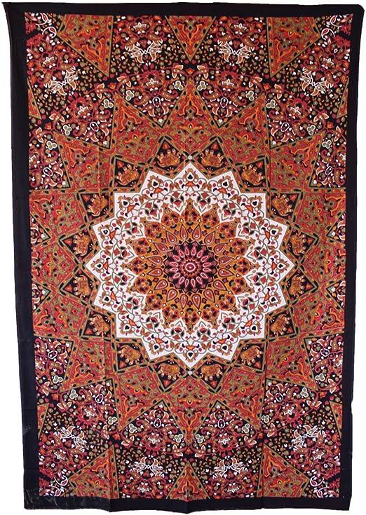 Handicrunch Hippie Mandala tapiz, tapiz indio Mandala, color marrón, marca nuevo Lovely tapiz, colgar en la