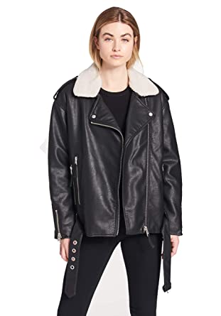 887a3888 Levi's Women's Faux Leather Oversized Sherpa Lined Motorcycle Jacket at  Amazon Women's Coats Shop