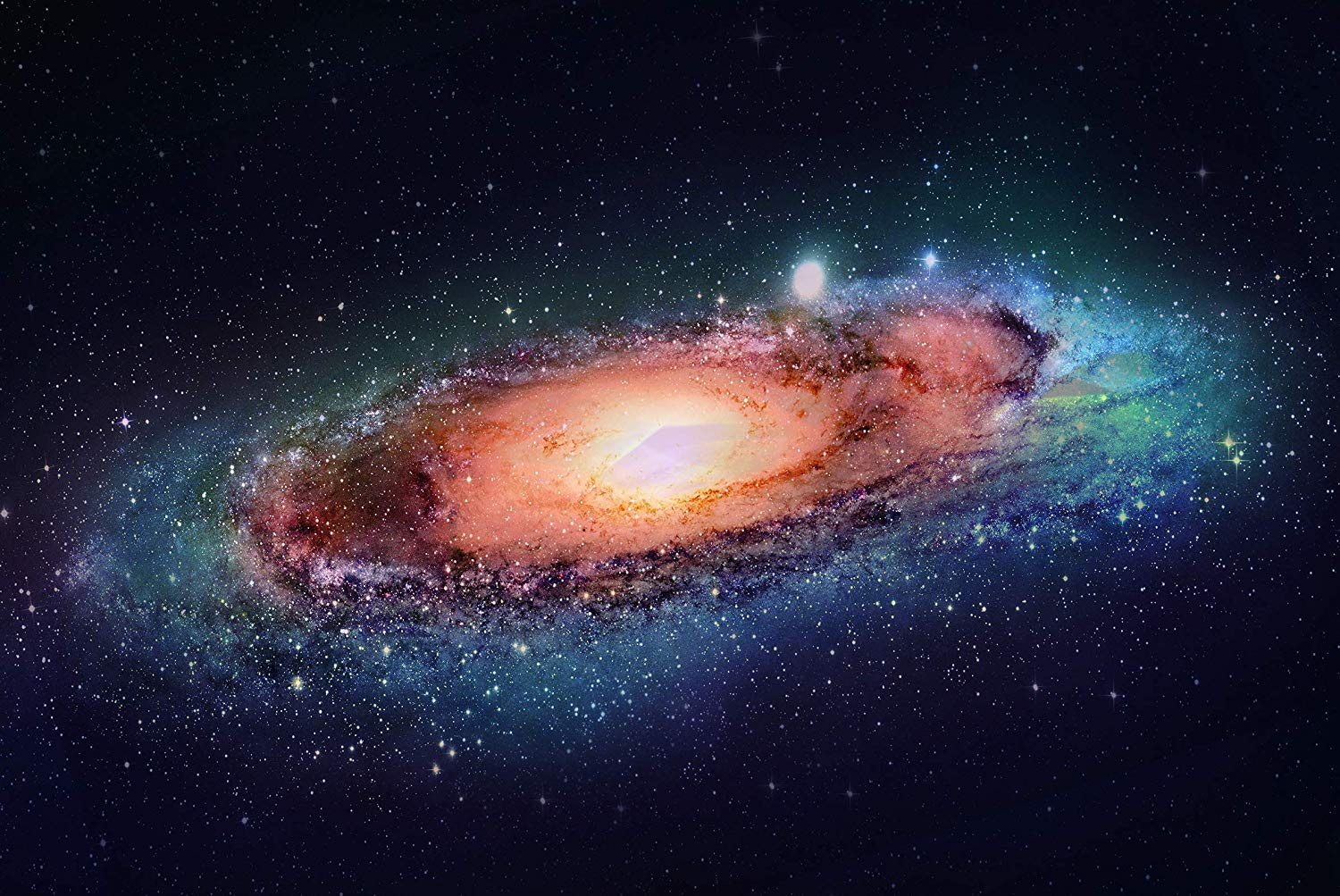 Stunning Andromeda Spiral Galaxy, constellation, the nearest major galaxy to the Milky Way. Laminated Poster