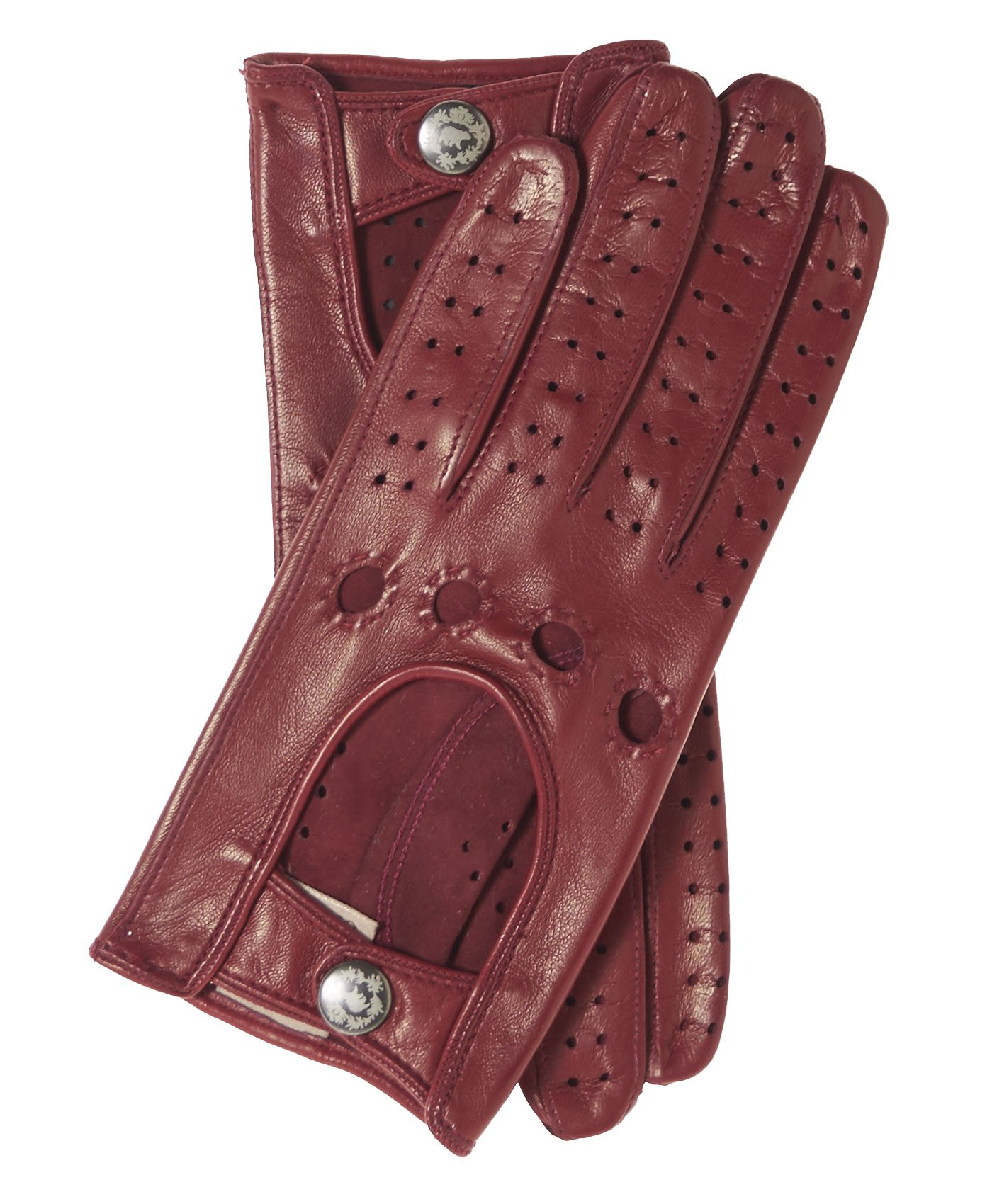 Fratelli Orsini Women's Italian Leather Driving Gloves Size 6 Color Oxblood