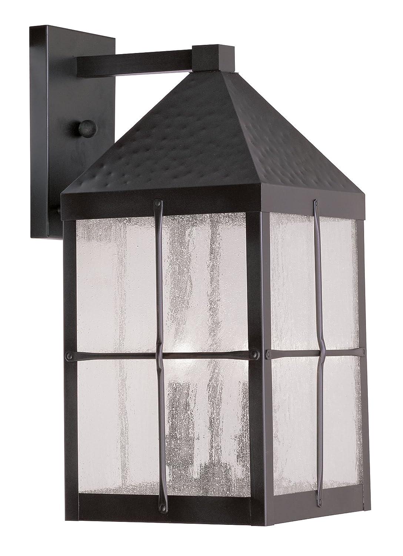 Livex Lighting 2682-07 Brighton 3-Light Outdoor Wall Lantern, Hammered Bronze by Livex Lighting B008N0095A
