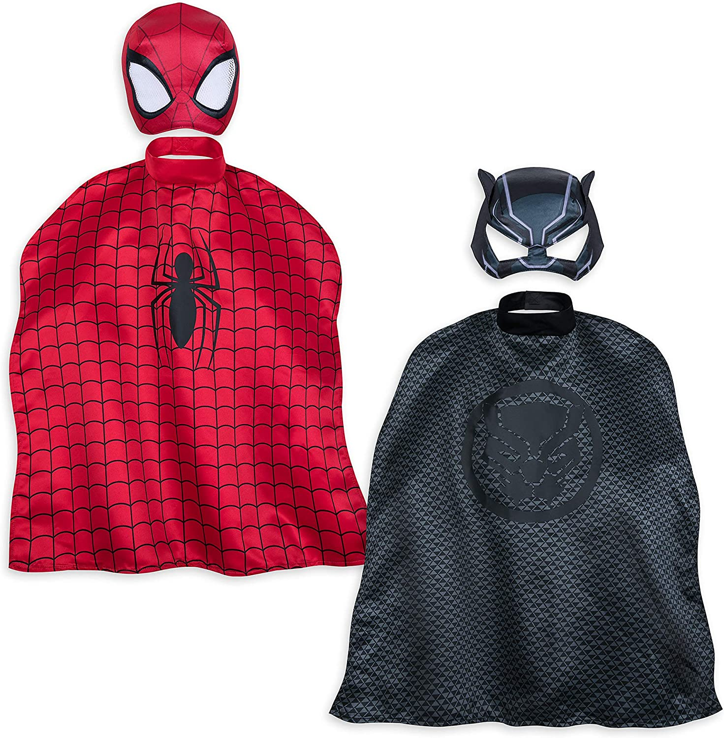 Superhero Cape for Kids-Spiderman Cape and Mask Cosplay Costumes Set for Kids 3 Sets