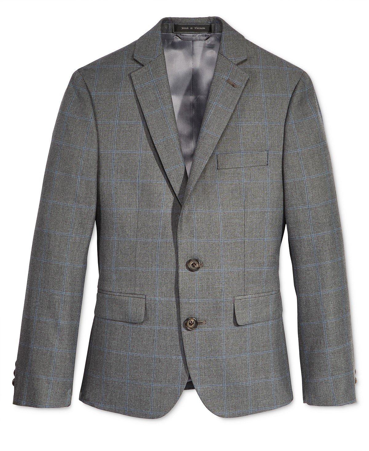 Lauren Ralph Lauren Windowpane Suit, Big Boys (charcoal, 8)