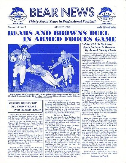 Amazon com: 8/1956 Chicago Bears Bear News Newsletter em