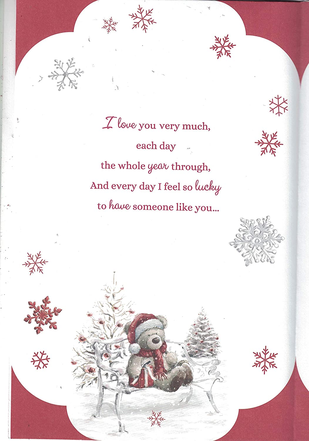Wife Christmas Card For My Very Special Wife Happy Christmas With