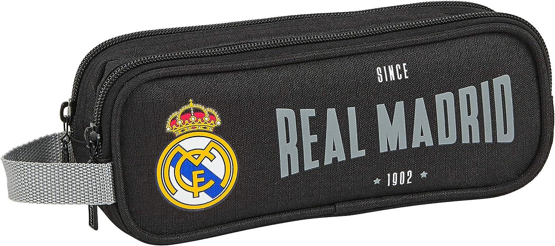 SAFTA 812024513 Estuche portatodo Doble 2 Cremalleras Escolar Real Madrid CF, Multicolor: Amazon.es: Equipaje