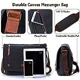 Vonxury Laptop Messenger Bag, Mens Canvas