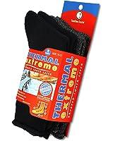 TeeHee Super Warm Brushed Thermal Crew Socks 2 Pair Unisex