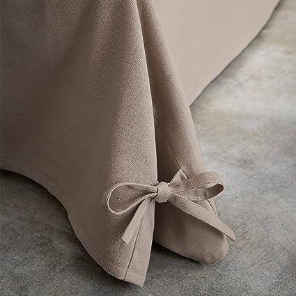 TODAY 576334 Cache - Funda de somier, algodón/Tela Tejida/Polipropileno, algodón, Gris, 160 x 200 cm