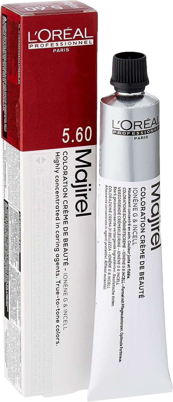 LOreal Majirouge Coloración Permanente C5, 60 (Castaño claro rojo intenso), 50 ml