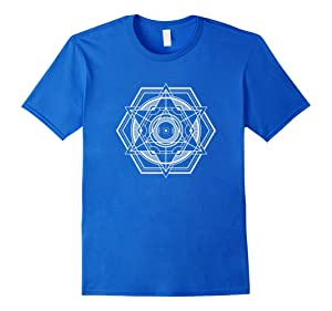 Men's The Official Sacred Geometry Shape T-Shirt Large Royal Blue