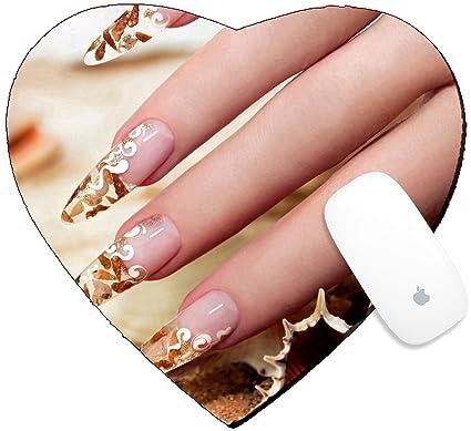 Amazon Com Luxlady Mousepad Heart Shaped Mouse Pads Mat Design
