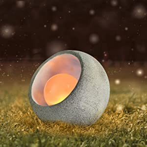 Garden Decor Solar Lights Lantern Outdoor - Indoor Outdoor Dinosaur Eggs Outdoor Statues Decoration,Waterproof LED Solar Lights, for Patio, Lawn, Walkway, Tabletop, GroundRilasnte (1 Pack)