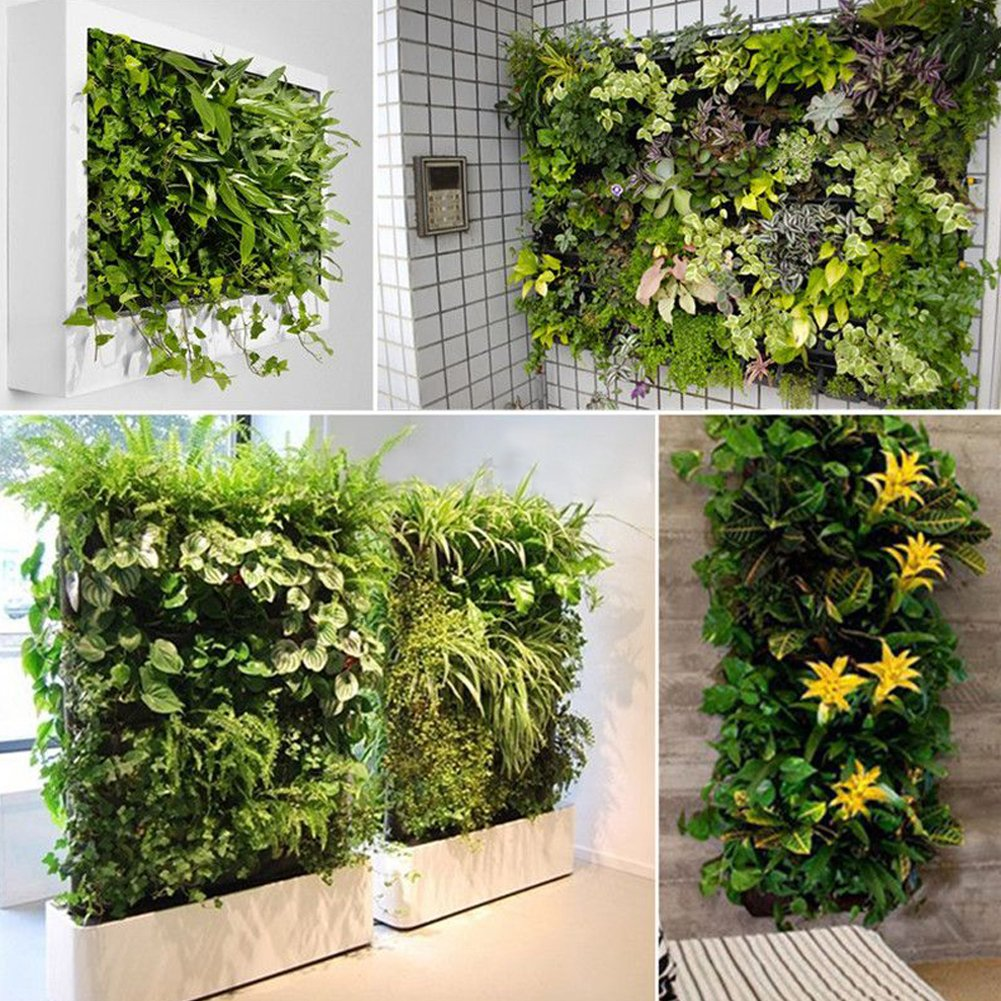 Domybestshop Bolsa Vertical Plantas 64 Bolsillo Vertical para jardín Pared Interior y Exterior, Color Negro: Amazon.es: Jardín