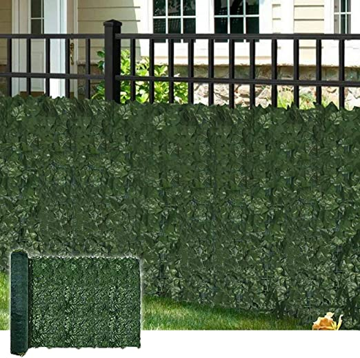 Coarbor 39X136 Artificial Faux Ivy Leaf Privacy Fence Screen with Mesh Backing Panels Decorative Perfect for Back Yard Deck Patio Provide More Outdoor Privacy