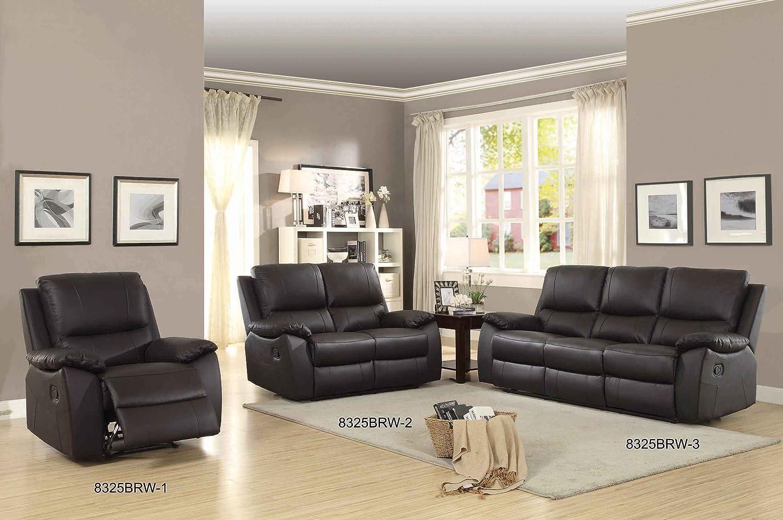 Amazoncom Homelegance Greeley Reclining Sofa Top Grain Leather