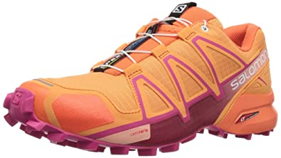 Salomon Damen Speedcross 4 W Traillaufschuhe, Orange (Bird of Paradise/Nasturtium/Pink YA 000), 43 1/3 EU