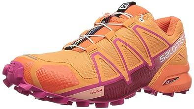 Salomon Damen Speedcross 4 W Traillaufschuhe, Orange (Bird of Paradise/Nasturtium/Pink YA 000), 37 1/3 EU