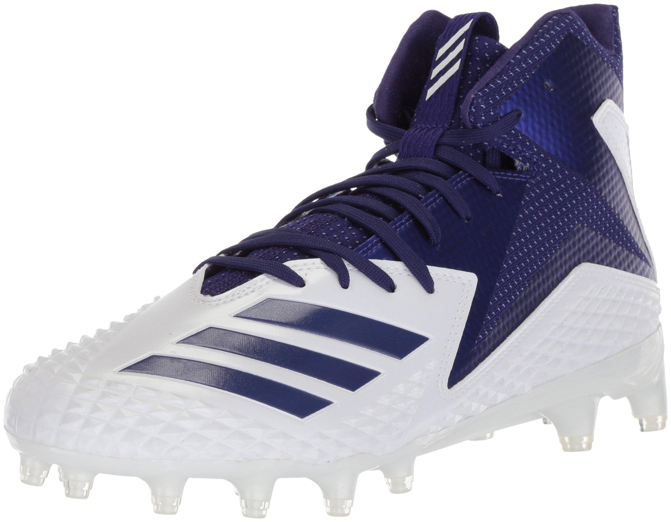 adidas Men's Freak X Carbon Mid Football Shoe, White/Collegiate Purple/Collegiate Purple, 10.5 M US