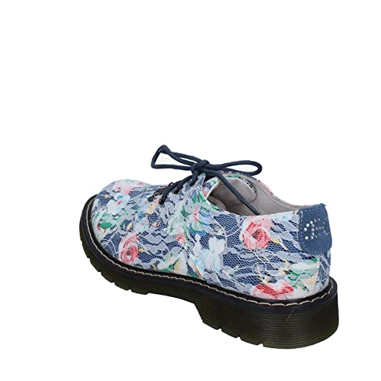 Enrico COVERI Zapatos Elegantes Niñas Azul/Blanco Textil (31 EU, Azul)