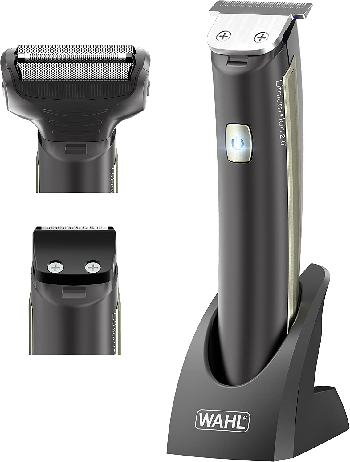 Wahl Lithium Blitz - Recortadora de barba 3 en 1, color negro ...