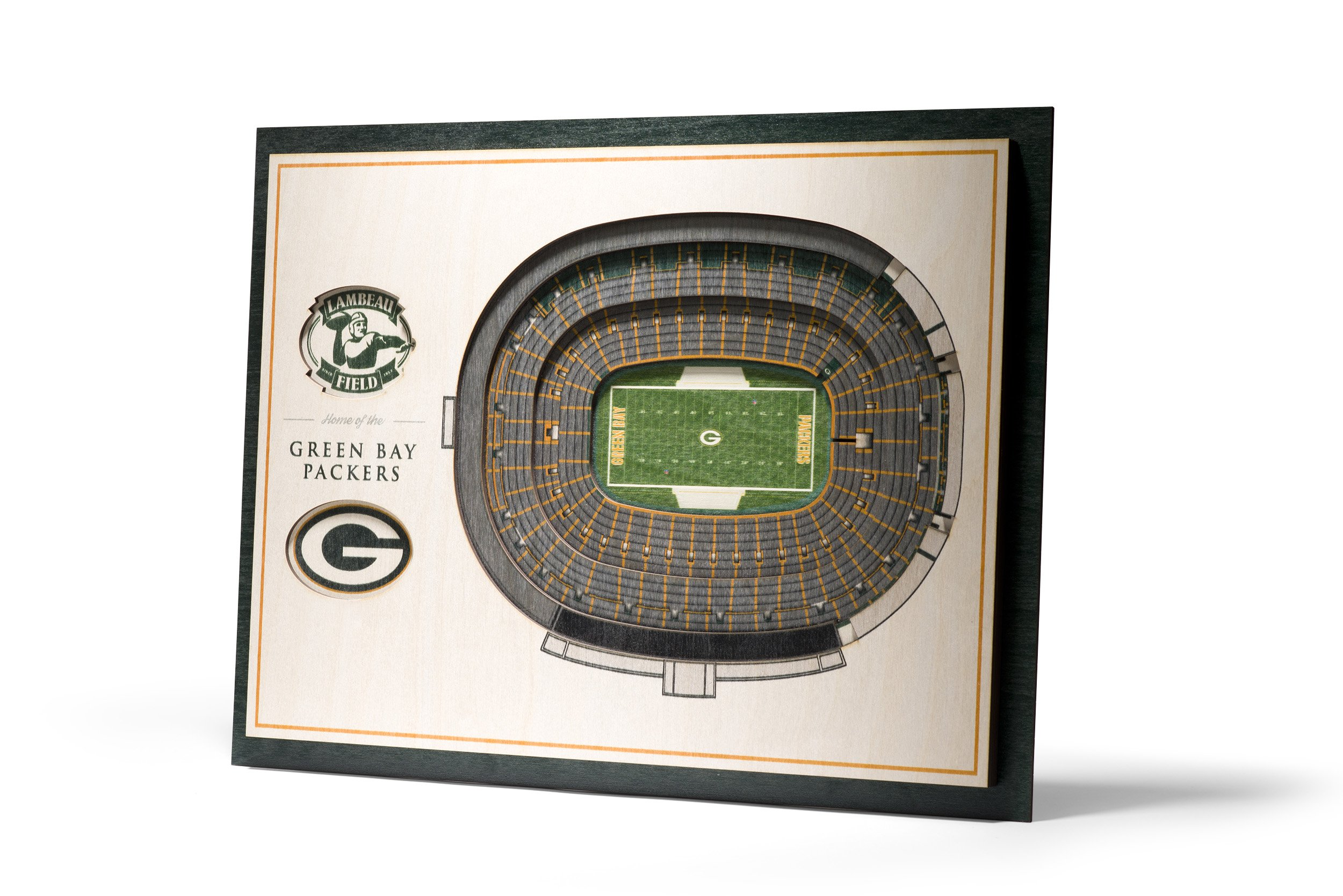 NFL Green Bay Packers 5-Layer Stadiumviews 3D Wall Art by YouTheFan