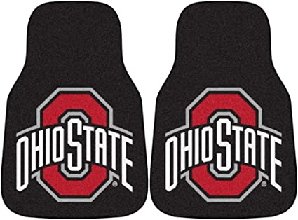 Ohio State Logo On All 4 Mats Collegiate OHIO STATE New Carpet Type Floor Mat Liner Wow