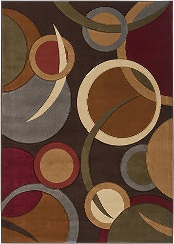 Lucilla Multi-Colored Modern Area Rug 5 3 x 7 3