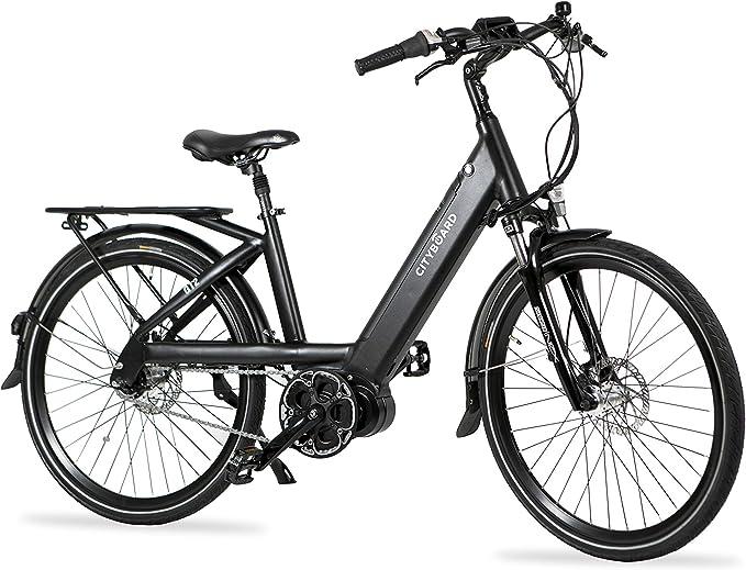 Negro Adultos Unisex Cityboard GT2 Bicicleta El/éctrica Monta/ña Motor Central 26