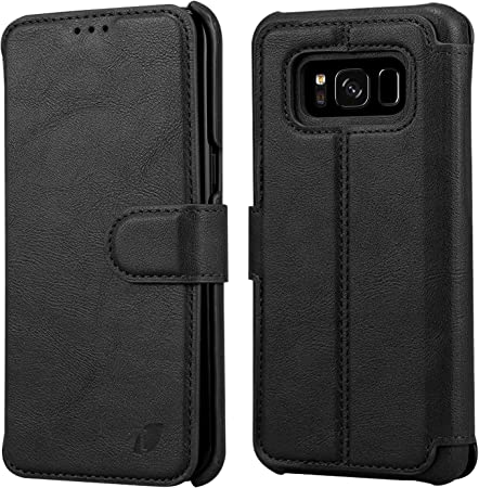 Techstudio Leather Flip Cover Wallet Case for Samsung Galaxy S8   Magnetic Closure Mobile Phone Cases   Covers
