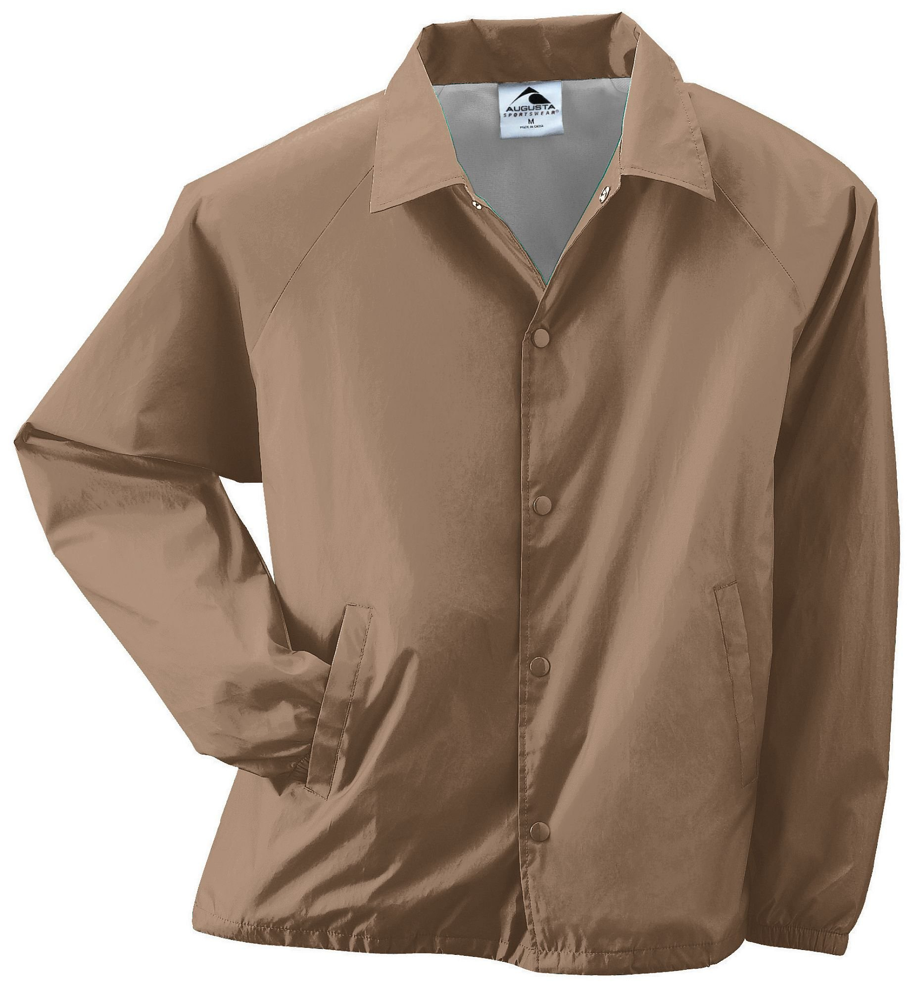 Augusta Sportswear Augusta Nylon Coach's Jacket/Lined, Khaki, Large