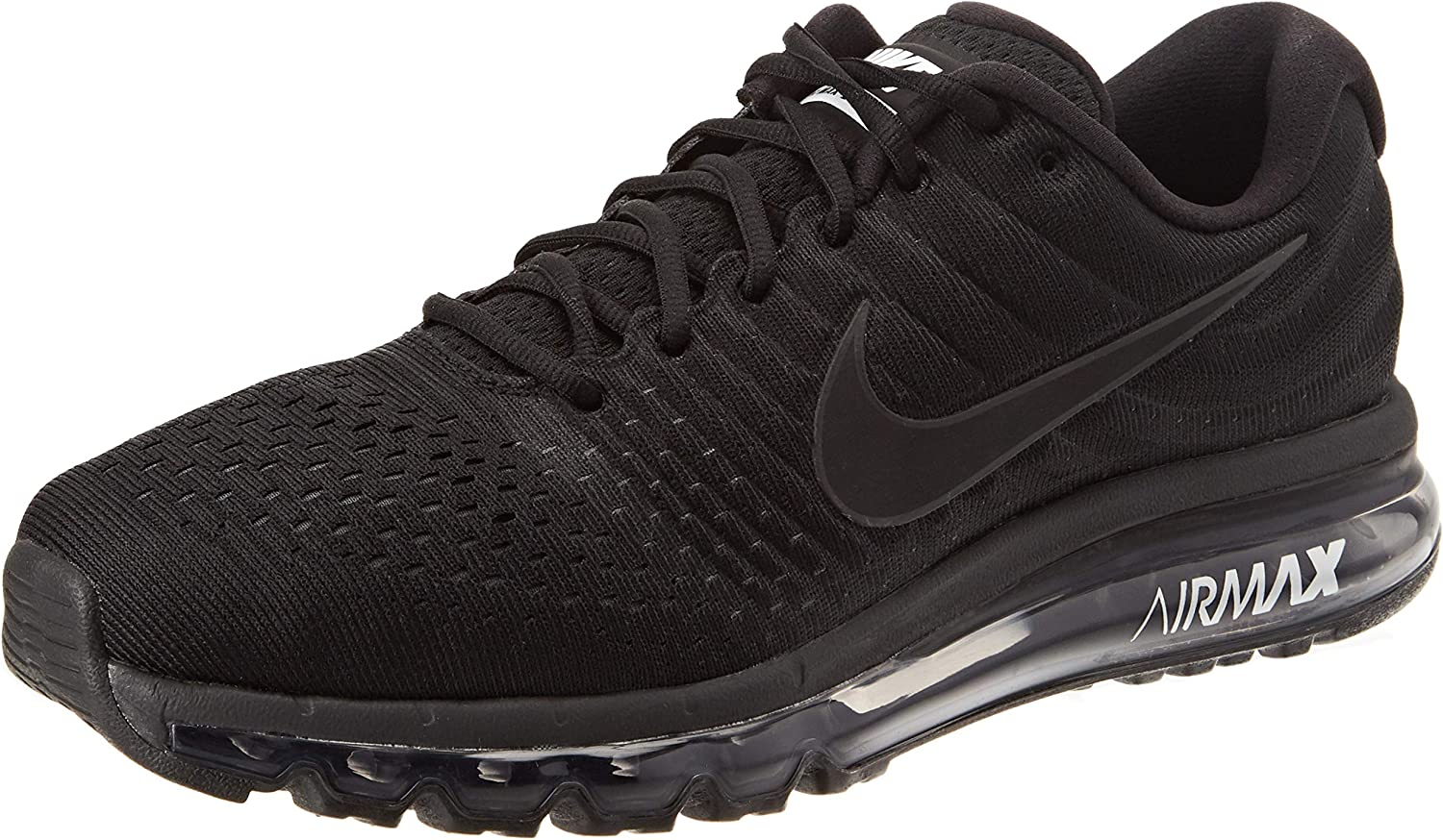Nike Men s Air Max 2017 Running Shoe Black Black-Black 12.5