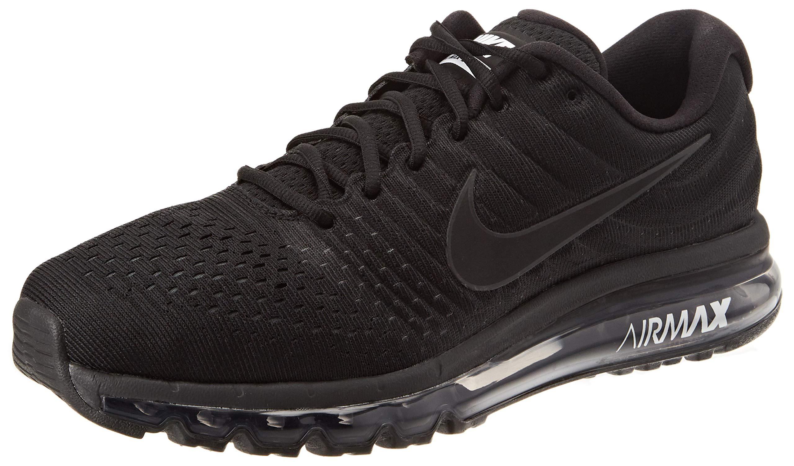 new product a56bb 8e5f7 Galleon - Nike Men s Air Max 2017 Black Black Black Running Shoe 9 Men US