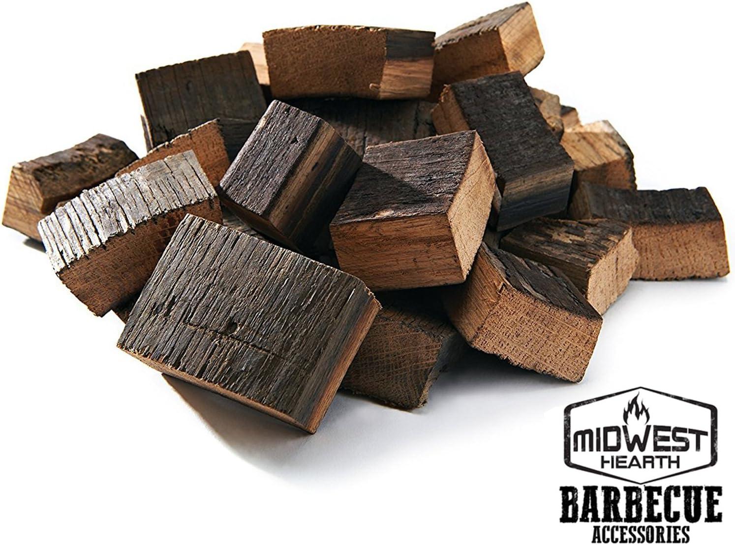 Midwest chimenea Caribe barril de ron fumar trozos de madera para barbacoa Grill