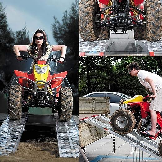 Rampe de chargement moto ATV quad pliable aluminium rampe rail collision avec pieds 226cm 680kg