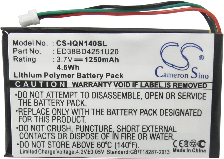 3.7V Li-PL Battery for Garmin Nuvi 1490T 1250mAh