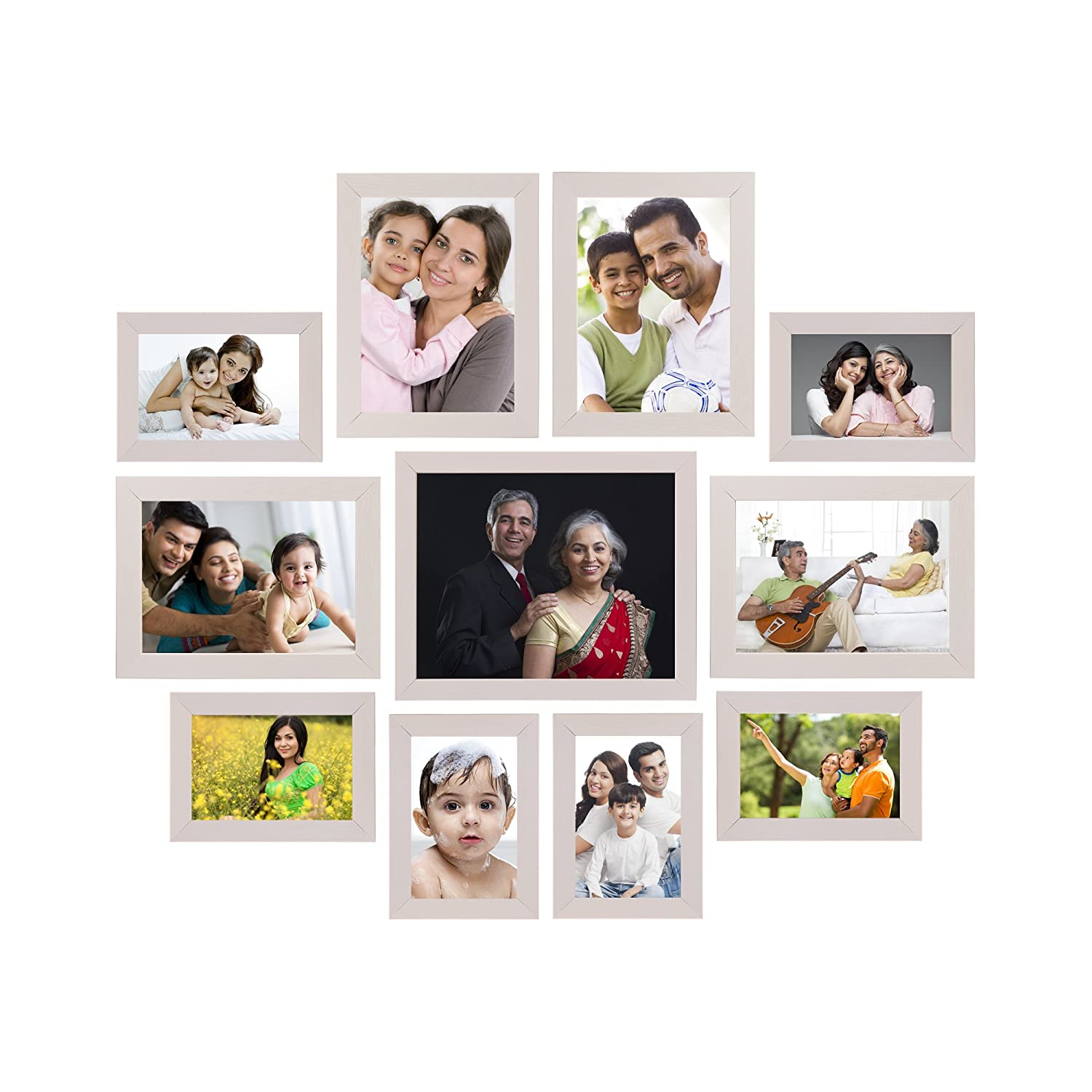 Solimo Collage Photo Frames, Set of 11,wall hanging (6 pcs -