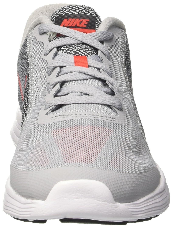 NIKE ' Revolution 3 (GS) Running Shoes B01GZBF20U 4 M US Big Kid|Wolf Grey/Max Orange/Black/White