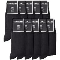Prime Socks Calcetines Hombres Negros de Algodon – 10 Pares