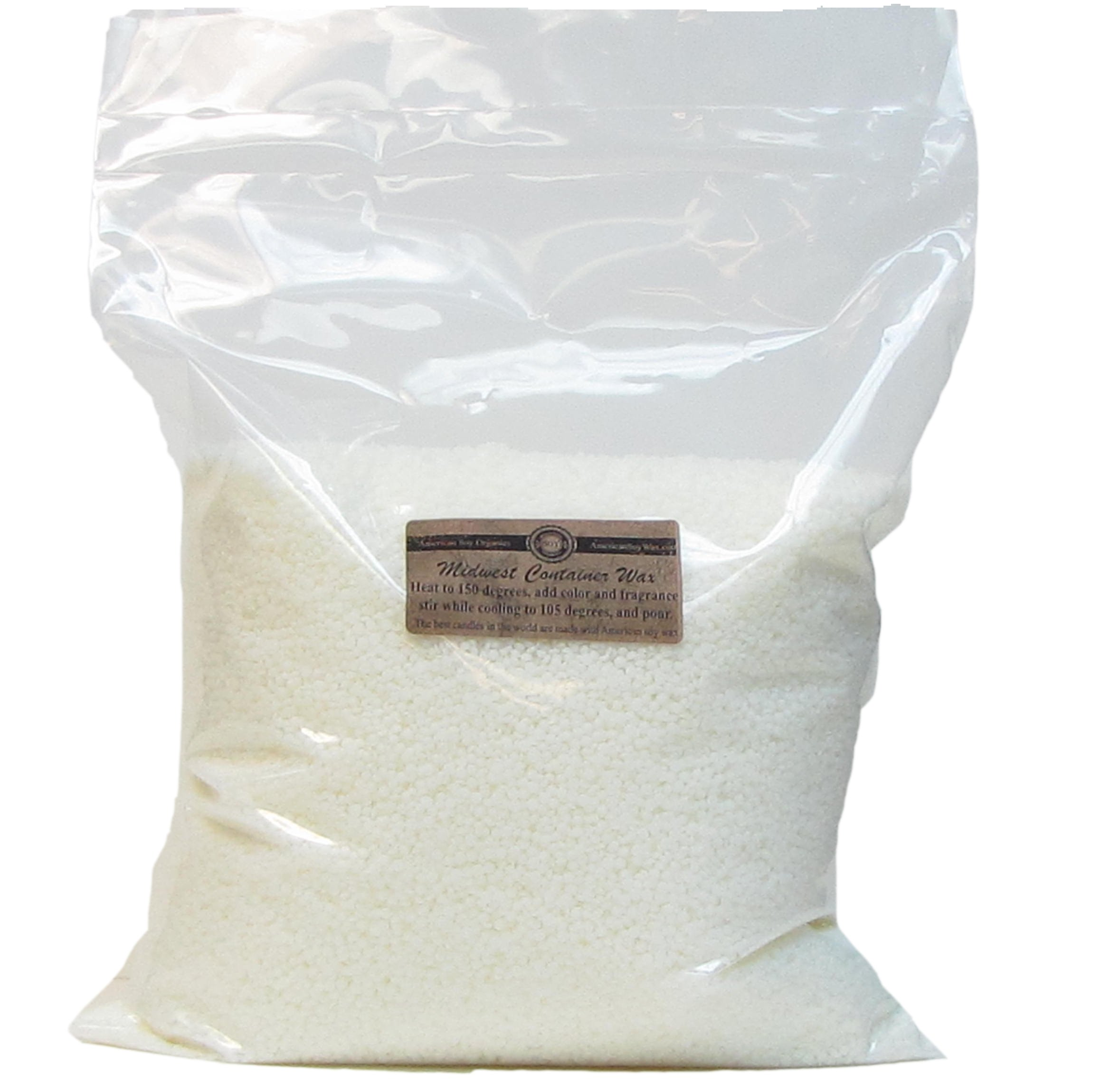 American Soy Organics Midwest Container Soy Wax: 10 lb Bag of Candle Wax for Candle Making by American Soy Organics