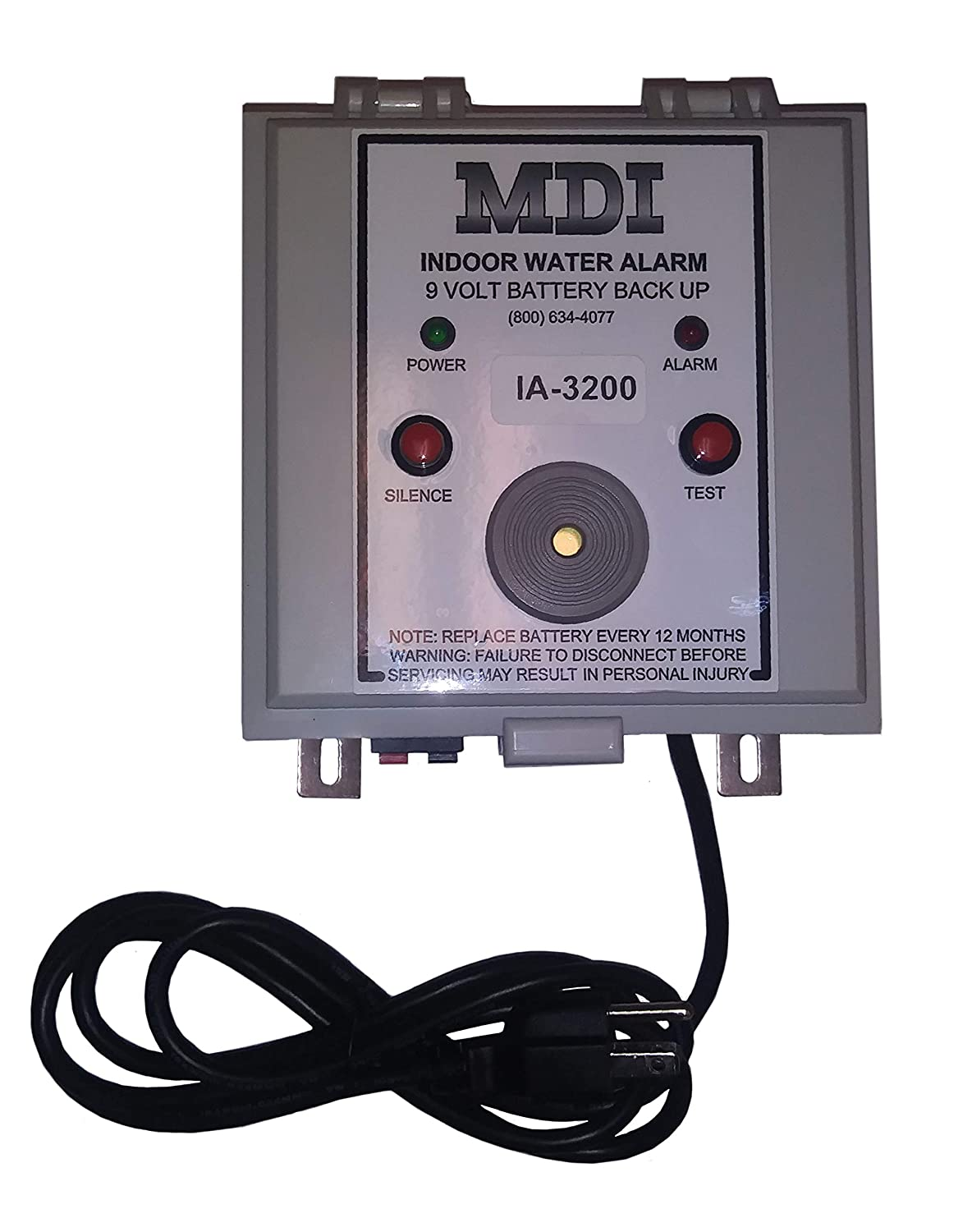 Battery Backup /& Made in the USA Indoor Tank Alarm High Water Alarm - 15 foot Mechanical Mini-Float