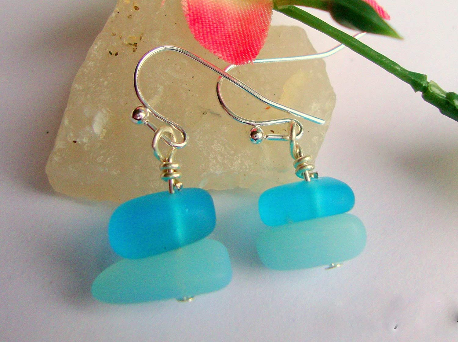 Gifts for Her or Him under 20 Teens Mother/'s Day Sky Blue Amazonite is a Turquoise Colored Gem stone Hand Wrapped in Copper Wire